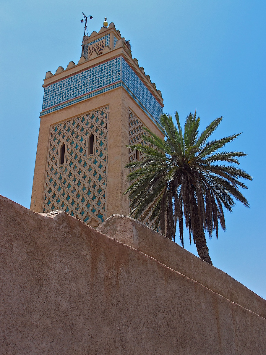 The Kasbah Mosque in Marrakech.