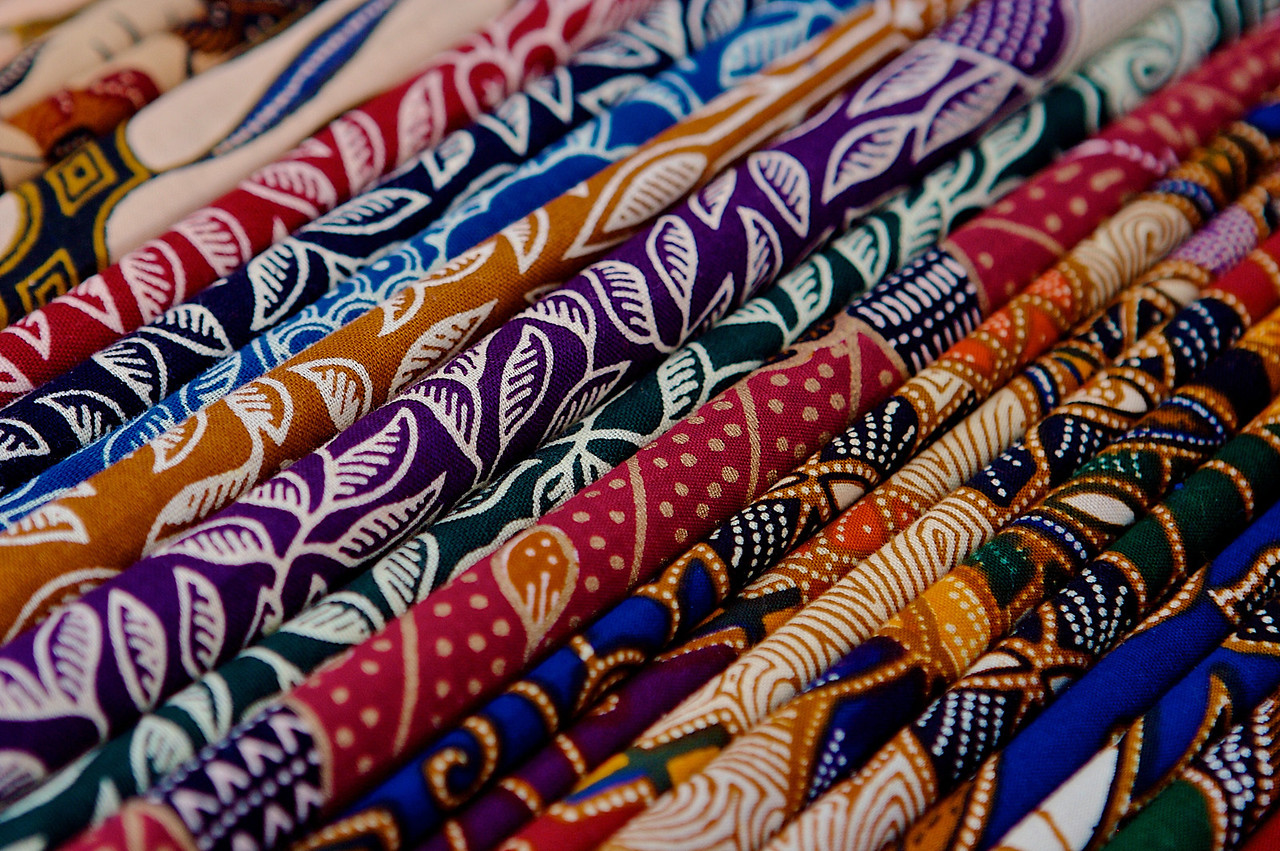 ..to traditional batik fabrics.