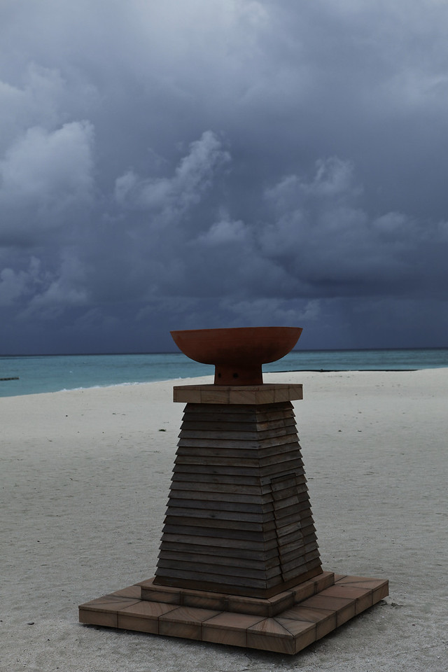 May is the transtion season between monsoons, so the Maldives are a great place to watch the storms roll in.