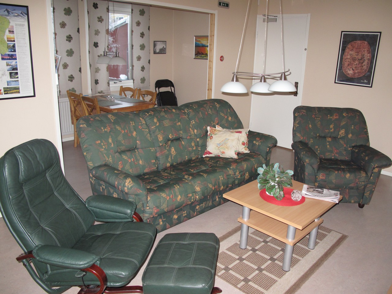 """There is also a """"sitting room"""" and two kitchens, so it's almost like home."""