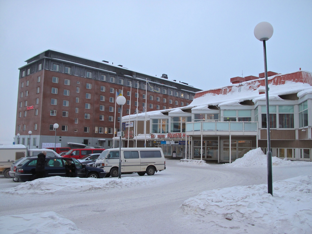 There are very few hotels in Kiruna, so during the popular tourist seasons, the rates are high.  The Scanic is the most upscale hotel in Kiruna and is located on the town's center square.