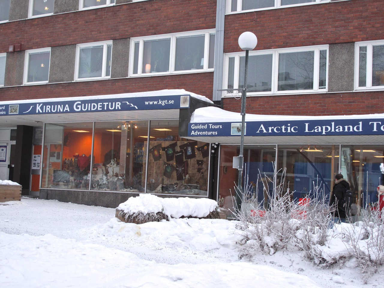 In the center of town is the orrice and shop of Kiruna Guidetours.  We used them to schedule our accomodations and activities while in Kiruna.  They did a great job.