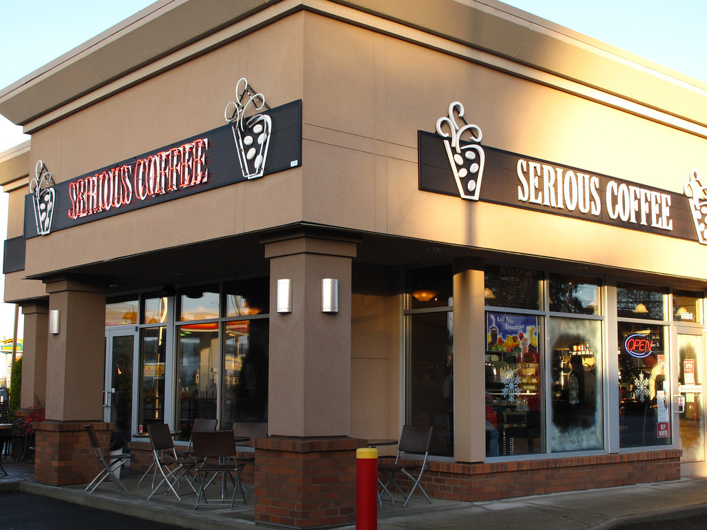 Serious Coffee has locations throughout BC and the island.  The coffee is very good and the service is always great.